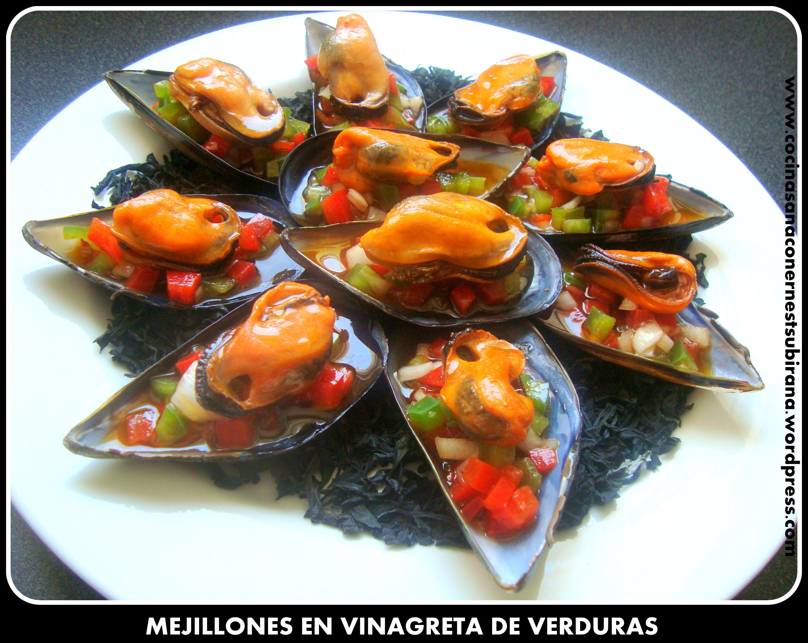 Mejillones en vinagreta - Mejillones al vapor con vinagreta ...